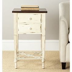 Ashley Furniture T500 302 Chair Side Vintage Rustic End Table