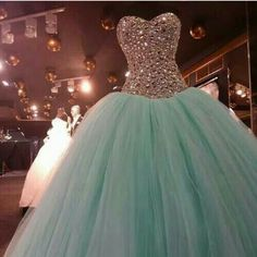 Cheap quinceanera dresses ball gowns, Buy Quality 15 dresses directly from China sweet 15 dresses Suppliers: Real Image Mint Green Crystal Quinceanera Dresses Ball Gown 2016 Sweet 15 Dress Vestido De Festa Long Tulle Formal Prom Gowns Sweet 15 Dresses, Sweet Dress, Cute Dresses, Beautiful Dresses, Sweet Sixteen Dresses, Cheap Dresses, Evening Party Gowns, Ball Gowns Prom, Prom Party Dresses