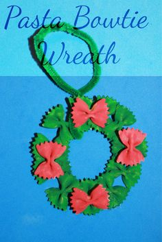 Pasta bowtie Wreath