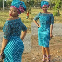 An original black BUD by Mmathulo Sejake #shweshwe #fashion #afro #africancontemporary