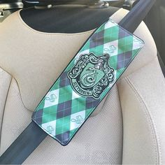 Handmade Harry Potter Slytherin Seat Belt Cover with Velcro Straps #slytherin #seatbeltcover #harrypotter