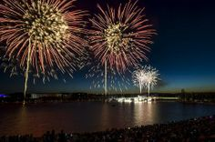 Australia Day fireworks at Regatta Point in Canberra. Photo: Rohan Thomson