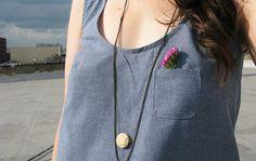 a summer chambray top | grainline (tiny pocket tank)