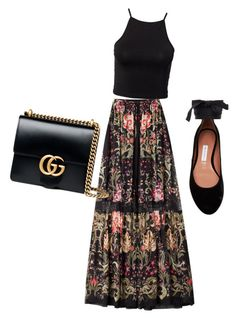 """Untitled #77"" by mikai-toot on Polyvore featuring Roberto Cavalli, NLY Trend, Gucci and Tabitha Simmons"