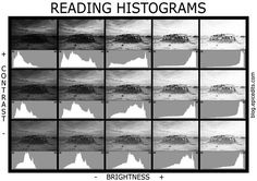 Understanding Historgrams - A good article to understand and read through. As you shoot with your SLR you should be reading the Histogram on your LCD screen as well. This is another tool to help you take better pictures. This also helps when you use Lightroom or Photoshop/. Reading Histograms.