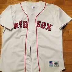 9dc45db17 Boston Red Sox Team Jersey 5 Nomar Garciaparra Russell Athletics Size 44  White #RussellAthletics #BostonRedSox #nomargarciaparra #redsox  #worldseries #mlb