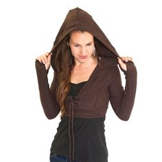 Crop corset front jacket with hood  JEDI CROP by DervishClothing