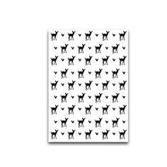 Pattern deer postcard ● Troetel.com