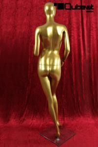 Weibliche Schaufensterpuppe gold faceless