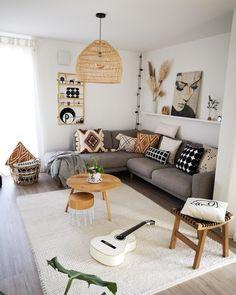 Boho Living Room, Interior Design Living Room, Home And Living, Living Room Designs, Living Room Decor, Bedroom Decor, Cozy Living Rooms, Bedroom Ideas, Living Room Inspiration