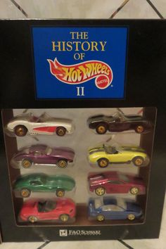 1994 History of Hot Wheels II FAO Schwarz Diecast 4 Decades Set of 8 Cars NEW #HotWheels #Various