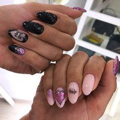 Pin by Lisa Firle on Nageldesign - Nail Art - Nagellack - Nail Polish - Nailart - Nails in 2020 Diva Nails, Gel Nails, Nail Polish, Elegant Nails, Stylish Nails, Cute Nails, Pretty Nails, Nailart, Valentine Nail Art