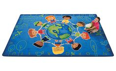Around the World Rug for prosocial circle time