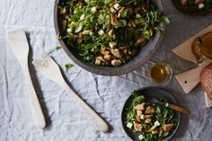 Brussels Sprouts and Apple Salad with Cheddar and Rye Breadcrumbs recipe on Food52