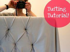 Tufting tutorial for a tufted headboard or other upholstery project