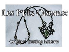 Les P'tits Oiseaux Necklace  TATTING PATTERN van LaCossette op Etsy, $3.50