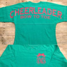 Items similar to Cheerleader cheer jersey pom pom pullover monogram Adult and Youth Sizes on Etsy Cheerleading Shirts, Cheer Coach Shirts, Cheerleading Stunting, School Cheerleading, Volleyball Drills, Volleyball Quotes, Volleyball Gifts, Cheers, Monogram Pullover
