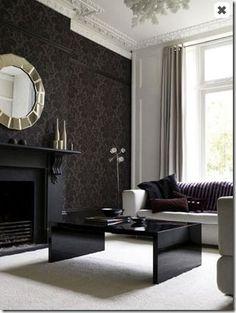 black wallcovering