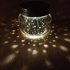 2oz. itty bitty MOON JAR  // upcycled constellation space style nightlight by heysp