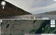 Loch Ness in Scotland shown here in Google Street View.<br />