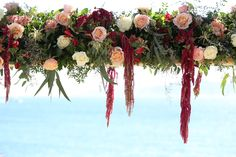 Amazing flower chandelier for a Mykonos villa wedding reception Bride Flowers, Fall Wedding Flowers, Wedding Bouquets, Hair Removal Methods, Laser Hair Removal, Flower Text, Destination Wedding, Wedding Planning, Flower Chandelier