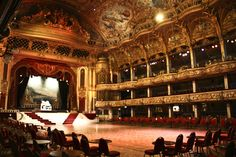Blackpool Tower Ballroom where I danced with my Granddad and lost my hair ribbon (I was 4...)