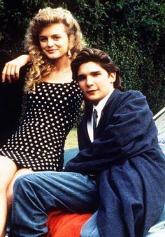 Heather Graham and Corey Feldman in License to Drive, 1987