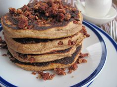 Hearty Banana Granola Pancakes, #Banana, #Granola, #Hearty, #Pancakes