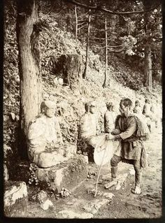 Meditation - Study at Gamman-Ga-Fuchi, Nikko, Japan by Herbert Ponting