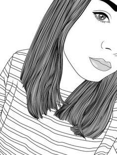 Image via We Heart It #drawing #girl #grunge #hippie