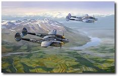 First Fighter Group - 71st Fighter Squadron - 15 USAAF Lightnings in the Mediterranean Theater of Operations.