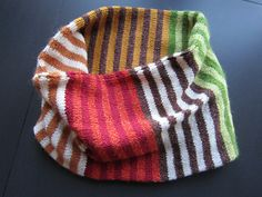 A Million Stripes Loop by Brenda Burrell.  I love this.  With different colors.  Why don't I knit?