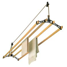 Buy replacement wooden rails for Sheila Maid ® ceiling airer. Buy authentic replacement parts for your Sheila Maid® pulley - The Eco Way To Dry Each Day™. Drying Rack Laundry, Clothes Drying Racks, Clothes Dryer, Clothes Hanger, Hangers, Clothes Rod, Clothes Lines, Hanging Clothes, Coat Hanger