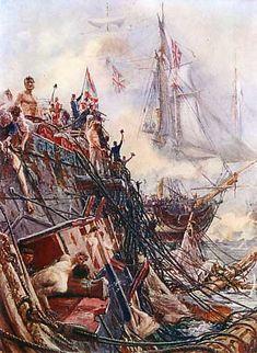 His Majesty's Ship Belleisle after the Battle of Trafalgar 21st October 1805; picture by Lionel Wyllie http://www.britishbattles.com/waterloo/battle-trafalgar.htm