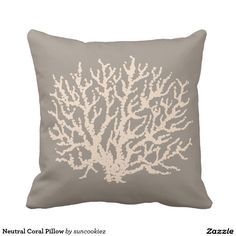 Beach Starfish Sea Coral Throw Pillow Decor Gift Coral and a starfish decorate this nautical themed pillow. The design is from original illustrations. Coral Throw Pillows, Decorative Throw Pillows, West Indies, Custom Pillows, Starfish, Sea, Knitting, Fabric, Gifts