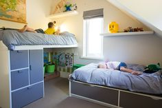 A cute boy bedroom (with Ikea furniture).  http://assets7.designsponge.com/wp-content/uploads/2012/11/8Ruth.jpg