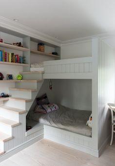 Children's room   Grey   Built in bunk beds   Modern   Livingetc
