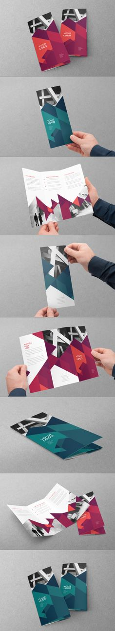 Modern Red Blue Trifold. Download here: http://graphicriver.net/item/modern-red-blue-trifold/7886017?ref=abradesign #design #brochure