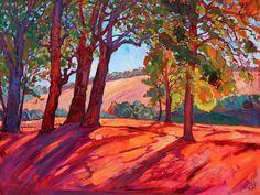 "California Oaks Wine Country Landscape Original Oil Painting by Erin Hanson 48"" | eBay"