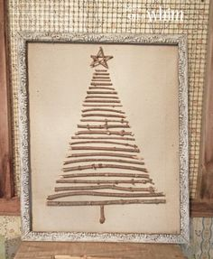 Framed Twig Tree from Denise on a Whim