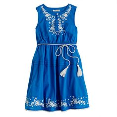 Girls' embroidered peasant dress - Crewcuts