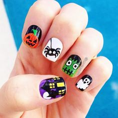 halloween+nail+designs