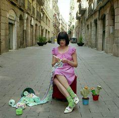 love knitting anytime anywhere