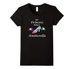 I have to have this!   Women's My Princess Name is Knitterella T-shirt Small Blac... https://www.amazon.com/dp/B07577X98M/ref=cm_sw_r_pi_dp_x_dmFPzbS6VPD22