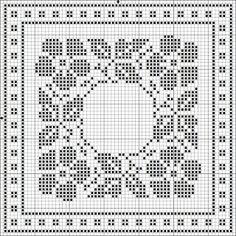 "Photo from album ""Бискорню монохром"" on Yandex. Biscornu Cross Stitch, Cross Stitch Borders, Cross Stitch Flowers, Cross Stitch Charts, Cross Stitch Designs, Cross Stitching, Cross Stitch Embroidery, Cross Stitch Patterns, Filet Crochet Charts"