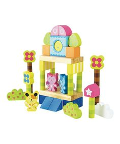 Take a look at this Scratchy the Cat & Friends 50-Piece Wooden Block Set on zulily today!