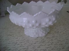 Vintage Fenton Milk Glass Hobnail Candle Holder by UrbanUpcycles, $16.00