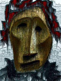 "Saatchi Art Artist Igor Bajenov; Drawing, ""... A stranger with no name! Original ...."" #art"