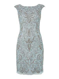 Adrianna Papell Brocade Beaded Dress £230