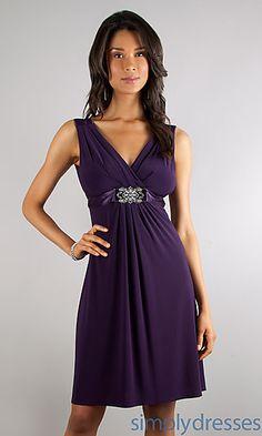 V-neck Short Semi Formal Dress at SimplyDresses.com